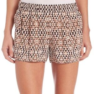 Joie Sibylle geometric print silk pull-on shorts
